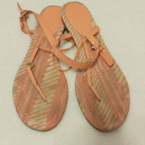 COACH Shirley Patent Print Sandals Size 9.5